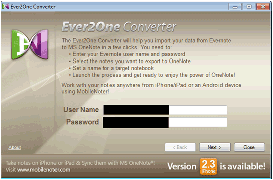 evernote to onenote converter