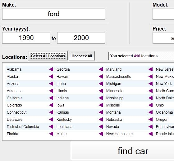 look for cars on craigslist