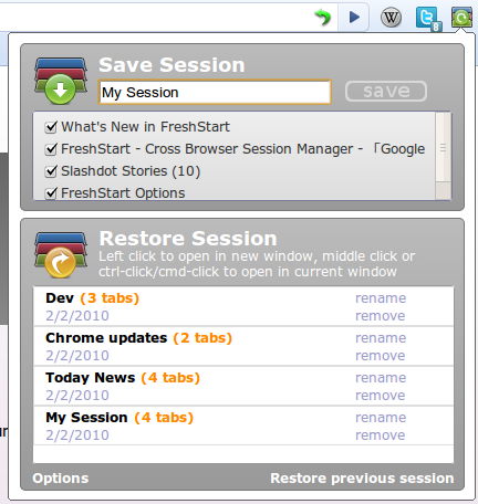 restore browsing session chrome