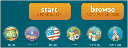 set up online fundraisers