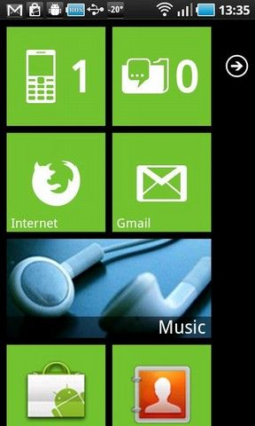 turn android phone into windows 7 phone