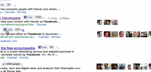 facebook likes google