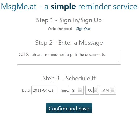 set up alerts email