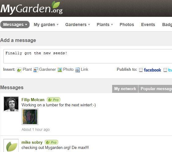 MyGarden: Social Networking for Gardeners myfarden