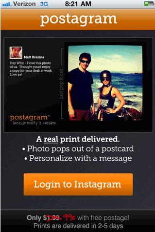 print photos as postcards