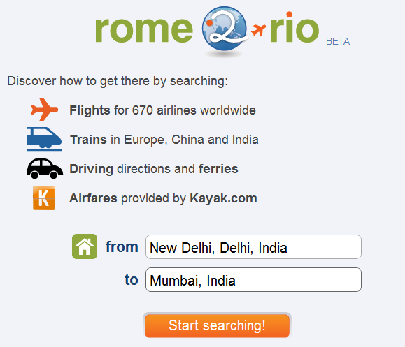 travel directions by auto