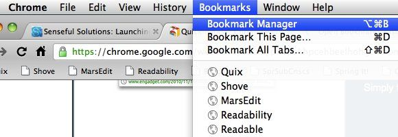 chrome bookmark addon