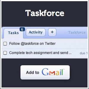 TaskForce Quicly Converts Gmail Emails Into Tasks