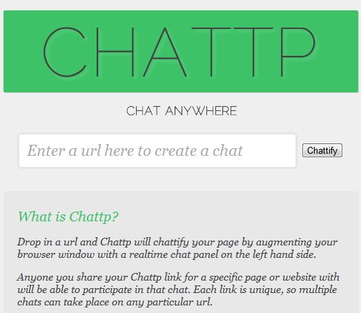 chat on any website
