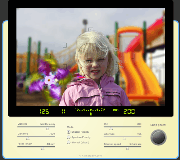 slr camera simulator