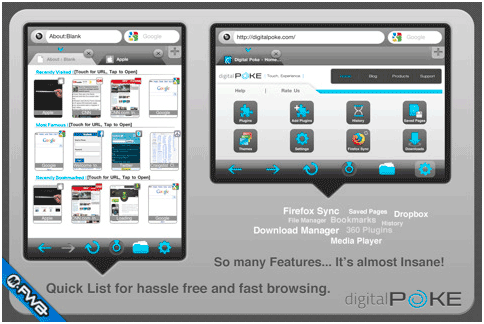 360 web browser   360 Web Browser: Feature Rich iOS Device Browser With Firefox Sync & Flash Support