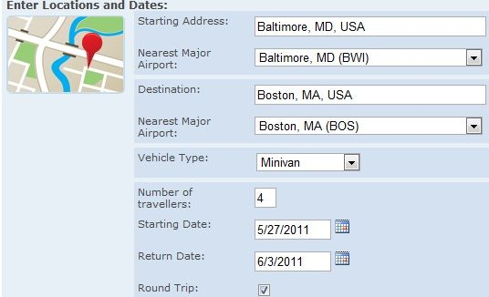 Enter Location   Fly Or Drive Calculator: Calculate Whether It Is Cheaper To Fly Or Drive