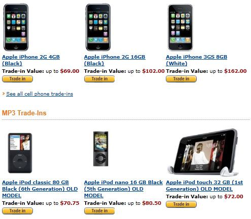 amazon electronics trade in1   Amazon Electronics Trade In: Trade In Your Old Electronics With Amazon For Gift Cards