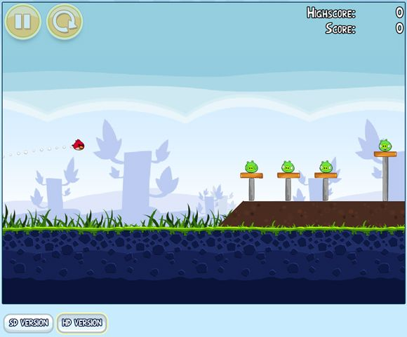 play angry birds in browser