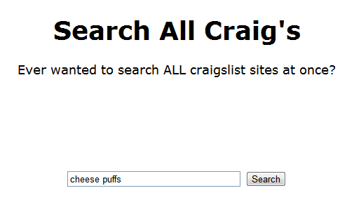 search all of craigslist