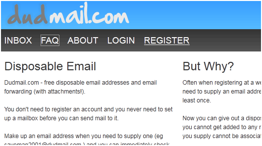 receive emails anonymously