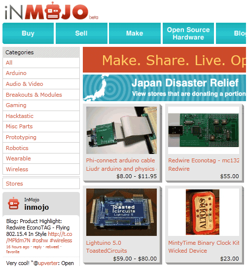 sell open source hardware