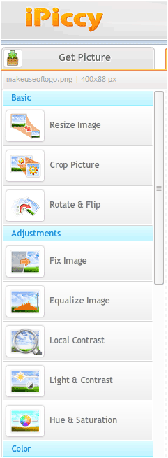 image editing web app