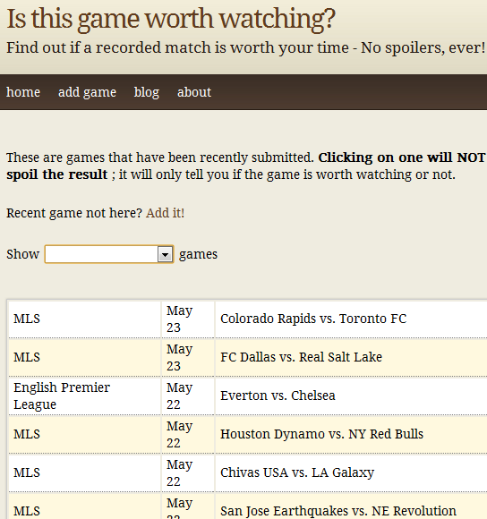 isthisgameworthwacthing1   IsThisGameWorthWatching: Check If A Soccer Game Is Worth Watching