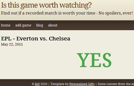 isthisgameworthwacthing2   IsThisGameWorthWatching: Check If A Soccer Game Is Worth Watching
