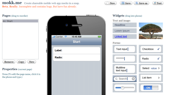 mobile application mockup