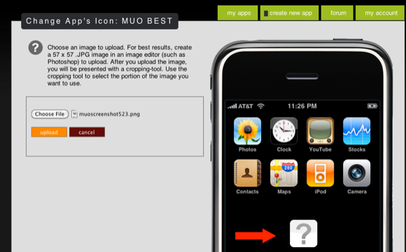 create your own iphone app