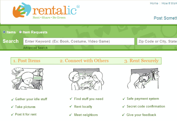 online rental marketplace