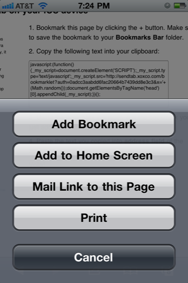 send url to iphone