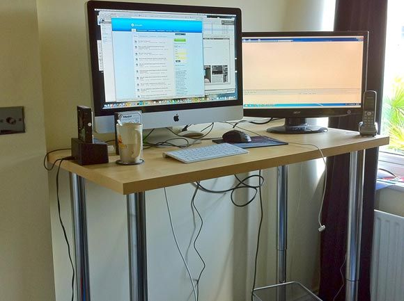 Take a Look at James' Home Setup [Show & Tell] stadning desk ikea