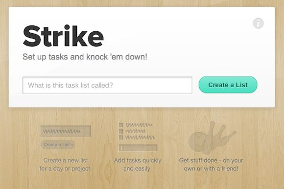 Two Dead Simple Productivity Webapps To Keep You Organized strike1