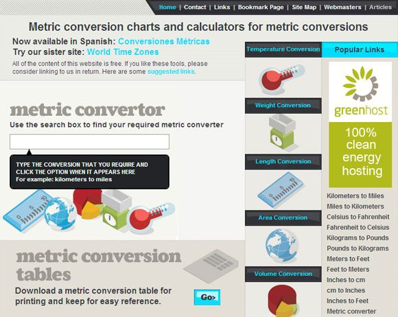 10 Websites For Unit Conversions & Calculations unit converter09