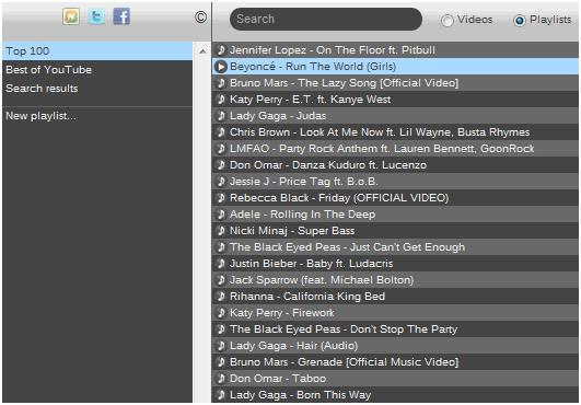 online music video jukebox