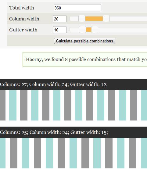 create website grid