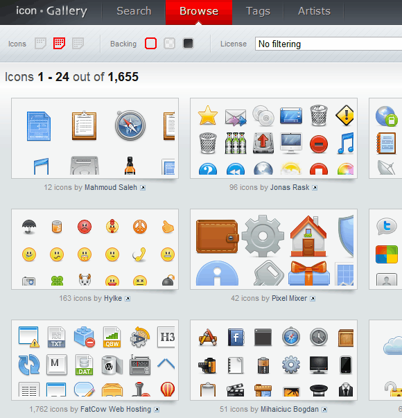 free licensed icons