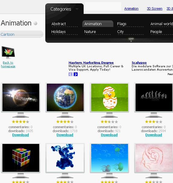 free downloadable screensavers