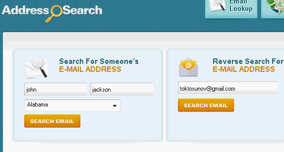 lookup email addresses