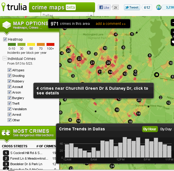 Trulia Crime Maps Find Out Crime Rates In Your Area On An Interactive Map