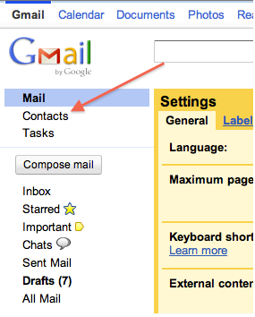 import facebook contacts to gmail