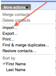 import facebook contacts