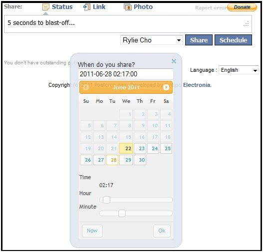 schedule your facebook posts