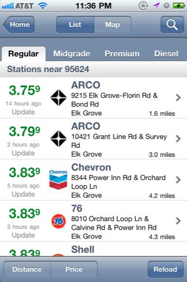 ipod gas mileage app