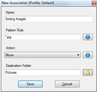 automatically sort files