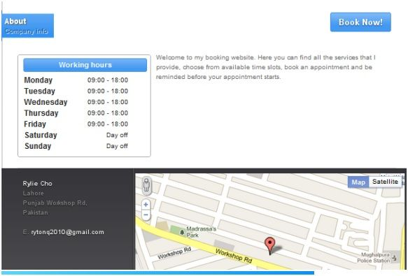 online reservation tool
