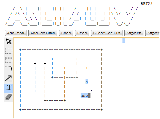 ascii art drawing tool