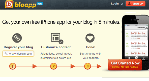 iphone app for your blog