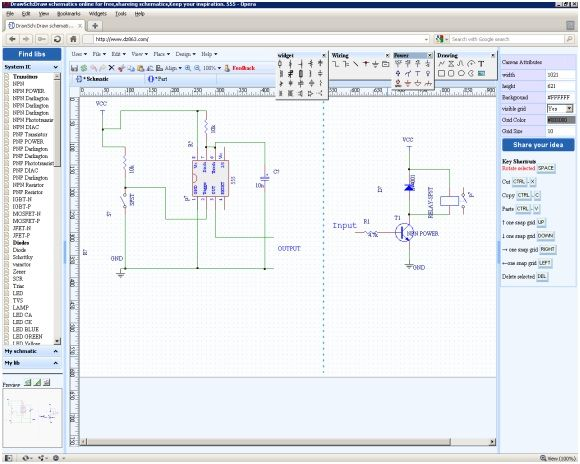 DZ863: Create Electrical Circuit Schematics Online