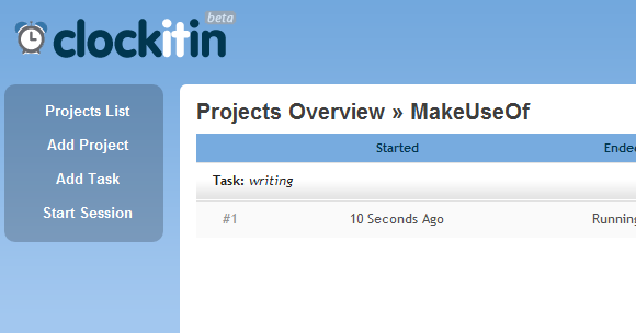 track time spent on projects tasks