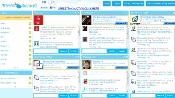create custom twitter feeds