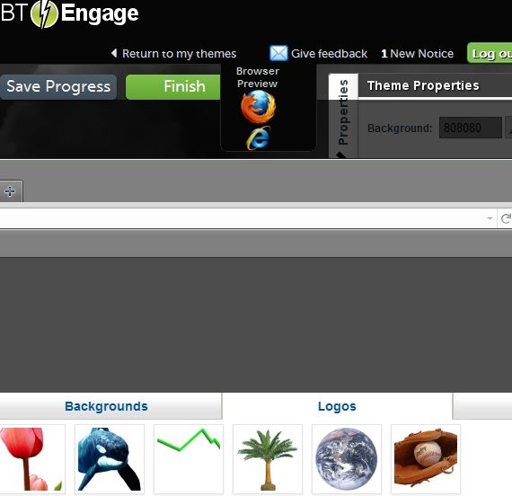 create browser themes
