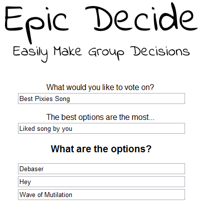 epic decide   EpicDecide: Cool Group Decision Making Tool